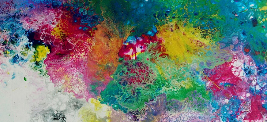 Supernova 3 abstrakte Kunst Malerei Original Gemälde Unikat Leinwand 70x145