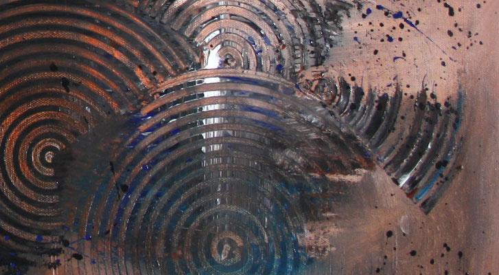 BRAUNE KREISE - Malerei Abstrakt - Original Bild vom Künstler braun