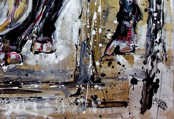 Rocky wilder Stier Bulle Malerei Tierbild handgemalt Original Gemälde Unikat