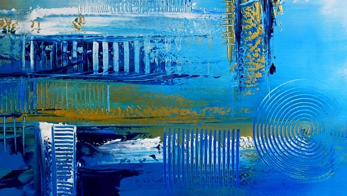 Tiefenrausch blau abstrakte Malerei Kunst Bild Original Künstler