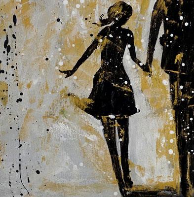 Familien Harmonie Menschen Eltern Kinder Bild Malerei Gemälde Modernes Kunst