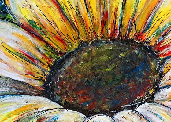 Sonnenblume Gemälde Malerei Acrylbild Unikat Leinwandbild Wandbild Praxis bilder