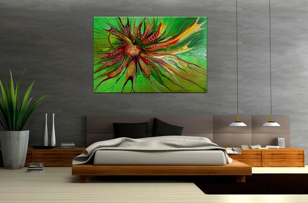 Esprit Moderne Malerei abstrakte Kunst handgemalt Leinwandbild Acrylbild Gemälde