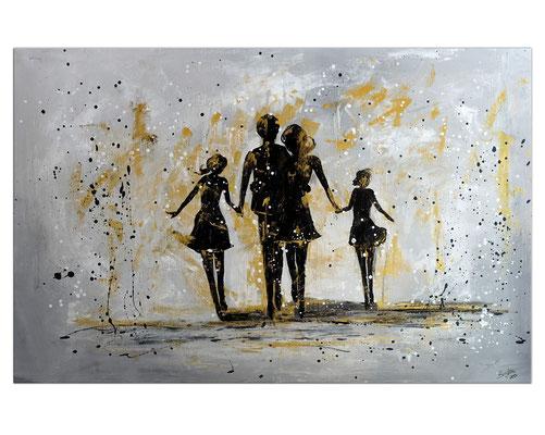 Familien Harmonie Menschen Eltern Kinder Bild Malerei Gemälde