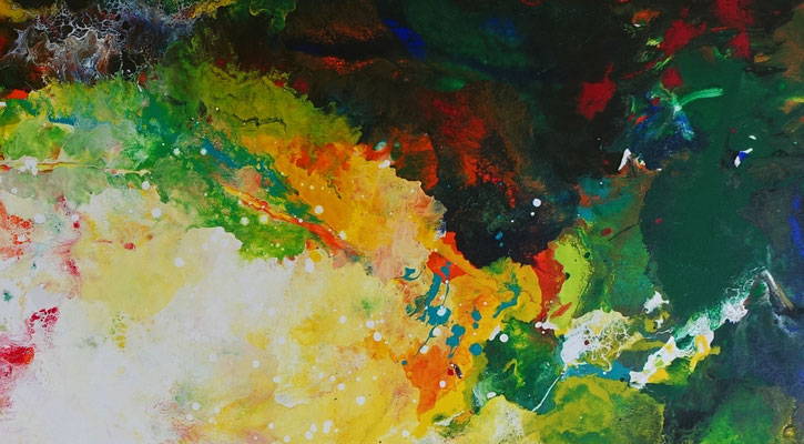 Farbenrausch abstraktes Kunstbild Leinwandbild Acrylgemälde Malerei