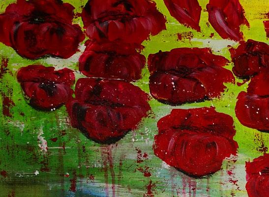 Wasserblüten Blumen Malerei abstrakt Blumenbild Moderne Kunst Blüten Bilder 120x80