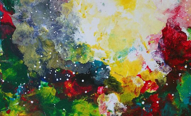 Farbenrausch abstraktes Kunstbild Leinwandbild Acrylgemälde Malerei Unikat gemalt