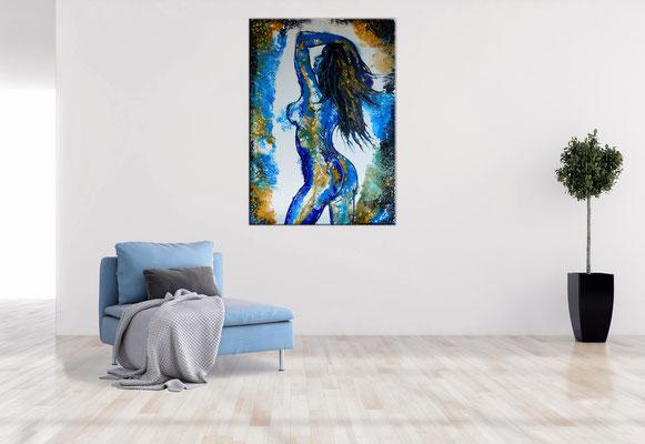 Verführung Abstrakte Erotik Nackte Frau Erotisches Gemälde Acrylbild 70x100