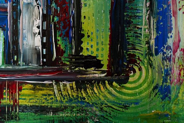 Confused bunt pastell abstrakt acrylbilder kunst bilder grün rot aus