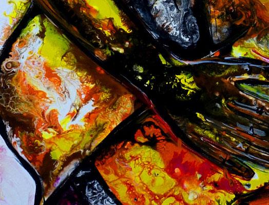 Zärtlichkeiten Erotische Malerei Pouring Acrylbild Gemälde Erotik Kunst