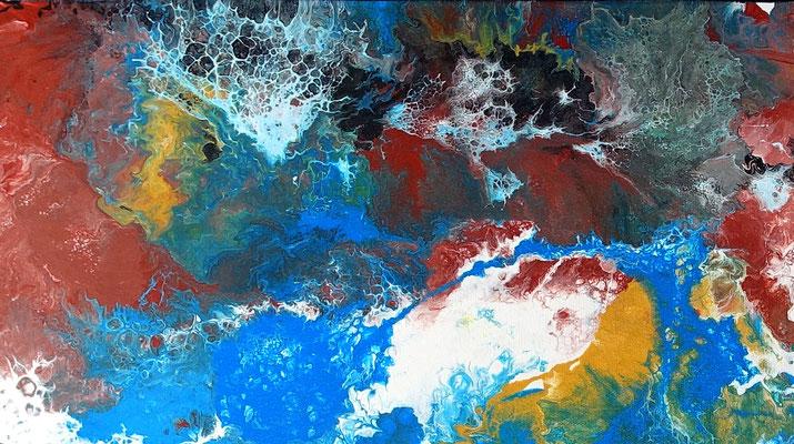 Amazonas abstraktes Leinwandbild Kunst Bild Modern Acryl Gemälde Unikat