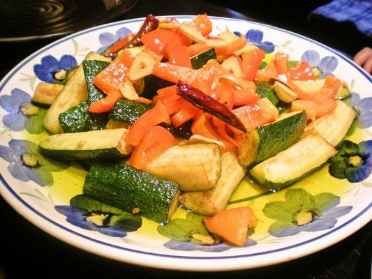 夏野菜オリーブソテー
