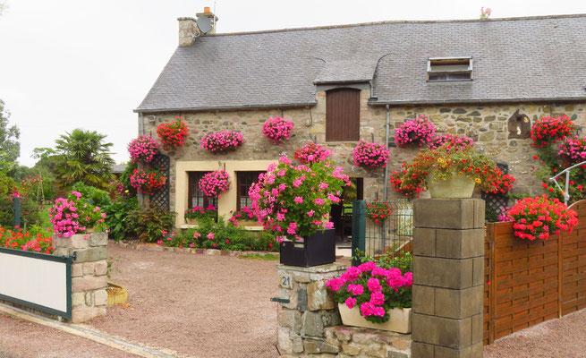 Blumenschmuck ist den Bretonen sehr wichtig.