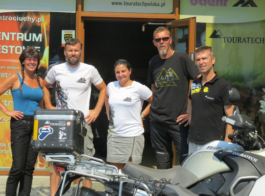 Bei Touratech Polen