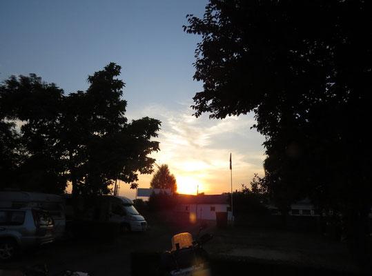 Sonnenuntergang in Ungarn