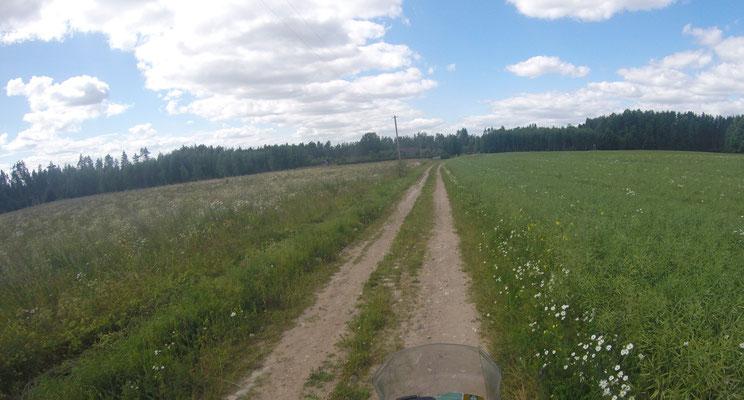 Nebenstrasse in Polen