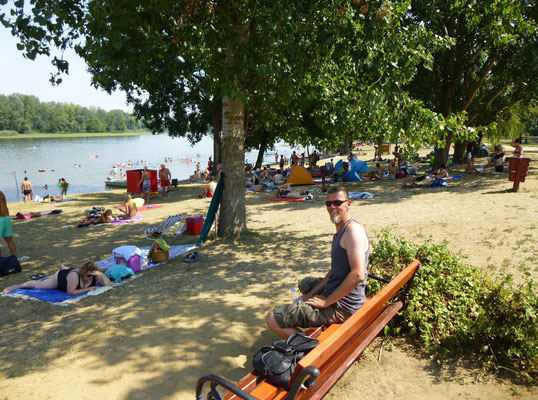 Pause am Theiss See