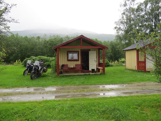 Unsere Hütte beim Camping Präsident