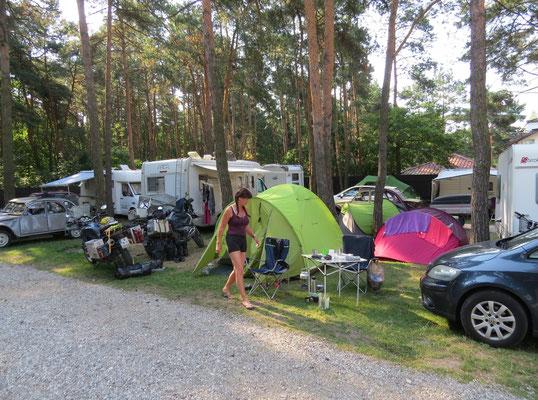 Stadt camping in Warschau