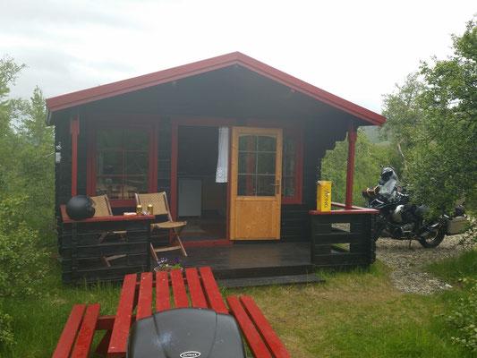 Unsere Unterkunft für die letzten 2 Nächte auf Island