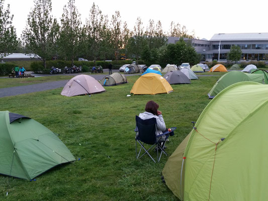 Camping in Reykjavik