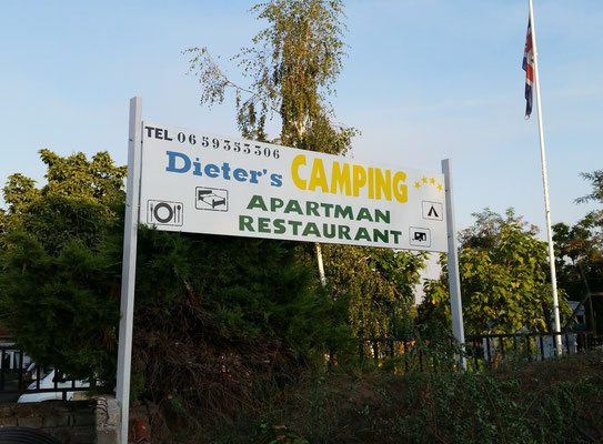 Traditioneller Campingplatz in Ungarn