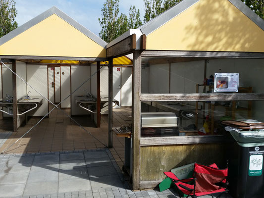 Kochbereich auf dem Platz in Reykjavik