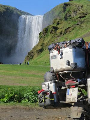 Der Skogafoss auf Island