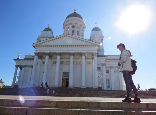 Die weiße Kirche in Helsinki