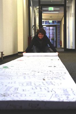 """Über mehrere Monate begleite und belebe ich als Künstlerin interne Prozesse einer IT-Beratungsfirma in Oldenburg, u. a. mit einer """"Dialog-Reise"""", die uns durch ganz Deutschland führt."""