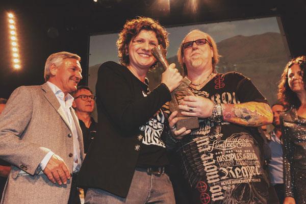 """Als Jury-Mitglied bei """"Rock gegen Hunger"""" der Welthungerhilfe in Düsseldorf."""