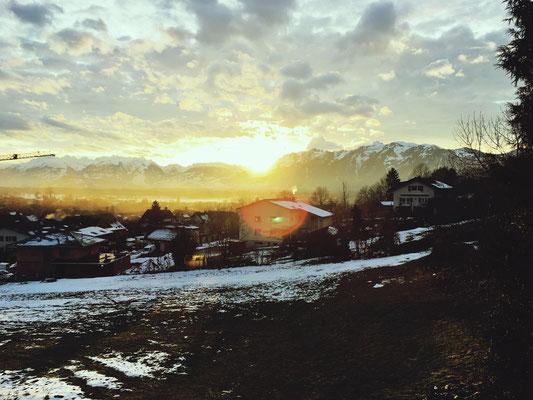 Lichtblicke in Vorarlberg, Österreich.