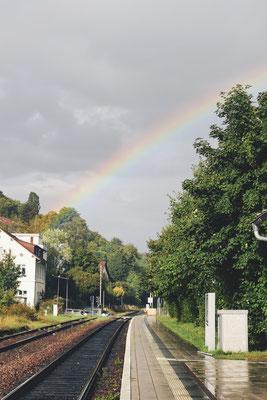 Ein Regenbogen begleitet mich auf meiner Reise, hier vom Hochrhein an den Niederrhein.