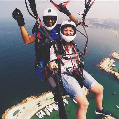 Selten so viel Freude empfunden. Skydiving im Libanon.