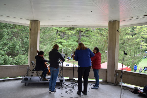The Quartet in the Bandshell at Harrison Park.  Photo by Paul Eichhorn