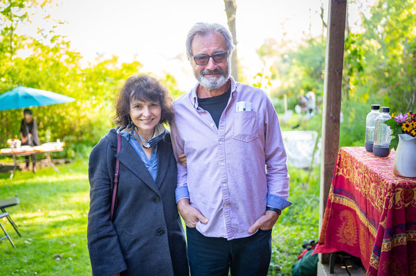 Our hosts for Garden Concert One Gail Gallant and Michael Allder.