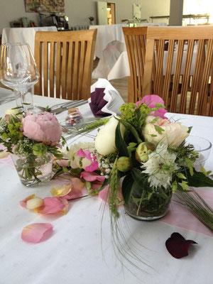 florale Glasfüllung