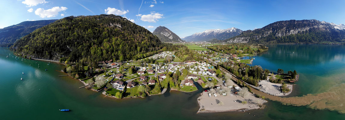 Camping Manor Farm mit Strand am Thunersee, 21.04.2018