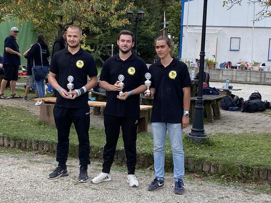 Altersgruppe Espoirs (v.l.n.r.): Maximilian, Lars, Fabian