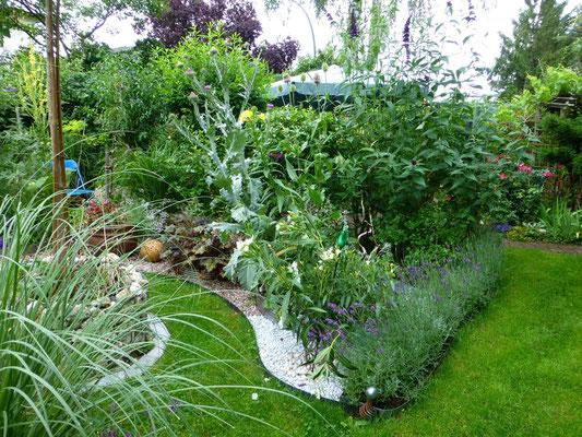 Lavendel-Reihe im Mediterranen Garten-Zimmer