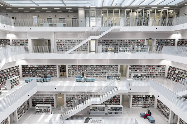 Stadtbibliothek Stuttgart / Yi Architects Aufnahme 2 / 4 - Vielen Dank für die Genehmigung zum Fotografieren und für die Veröffentlichung