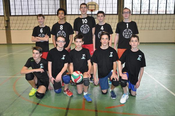 L'équipe de St Cyprien et l'équipe de Pouilly St Nizier