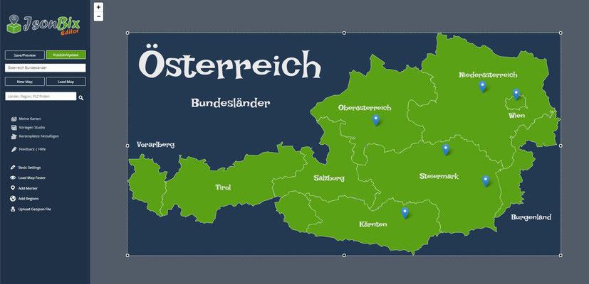Interaktive Österreichkarte