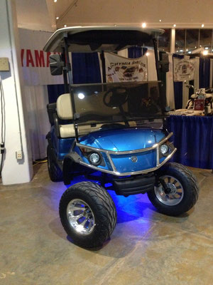2013 Yamaha Drive EFI, Electric Metallic Blue, Lifted