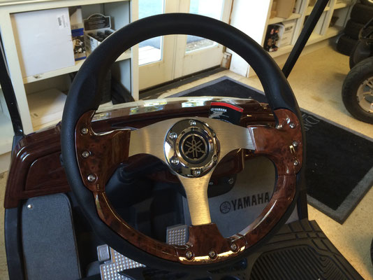"Woodgrain 14"" Steering Wheel, will fit all models with included adapter"