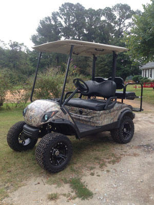 "2009 Yamaha 48V Hunting Build, Hydro Dipped Camo Body, 6"" Lift, Lights, 22"" Tire, Rear Seat"