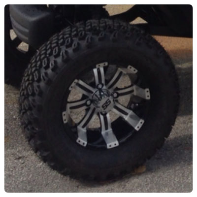 "12"" Tempest Wheel with A/T Tire"