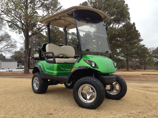 "2014 Yamaha PTV EFI, Synergy Green, 6"" Lift, 12"" Polished Wheels w/ 23' Street Tires, Rear Seat, Street Legal, Overhead Radio and Console"