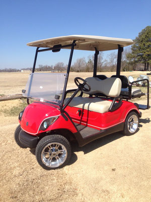 2011 Yamaha Custom Red Paint with Pin Stripe, Chrome Wheels, Rear Seat