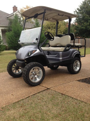 """2012 Yamaha Drive, Anthracite Color, 6"""" Lift, 14"""" Wheels and Tires, Rear Facing Seat"""